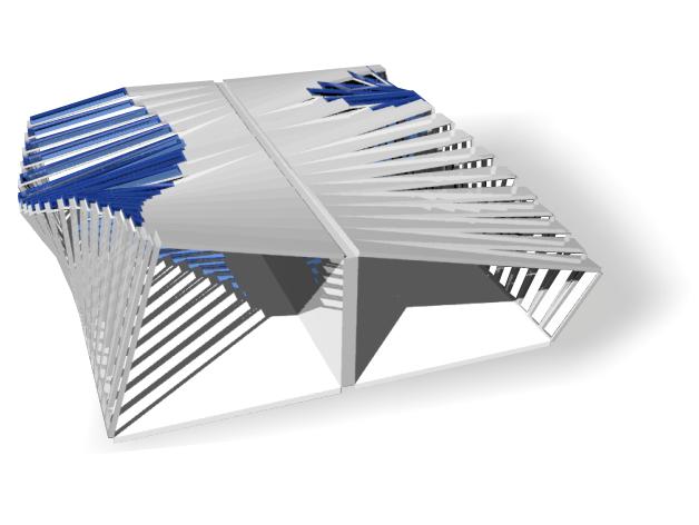 Folding pavillion